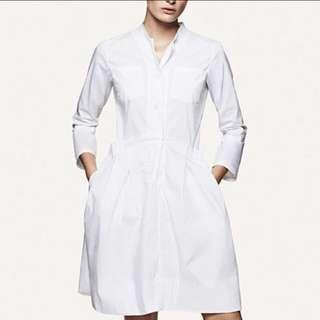 +J 中山領白色圓領襯衫洋裝 M 號