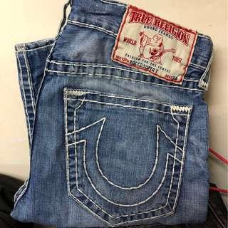 W34 TRUE RELIGION 潑漆靚洗水💦straight jeans 👑記得follow 我。大量其它品牌😉
