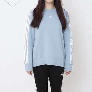 Adidas 三葉草小logo大學t