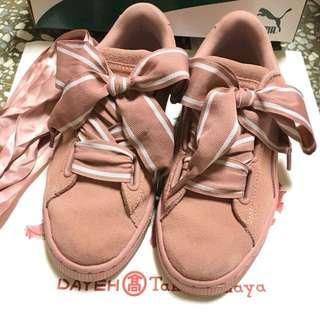 [二手特價出清]PUMA 限量 寬版蝴蝶結 蕾哈娜 運動鞋