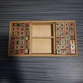 Wooden Alphabet Stamp Chop
