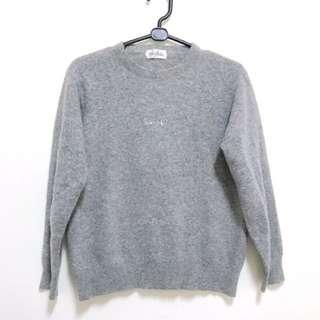 Polo 90%羊毛 日本製 灰色上衣 衛衣 大學T champion hconnect