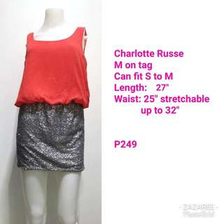 Charlotte Russe Orange Party Dress