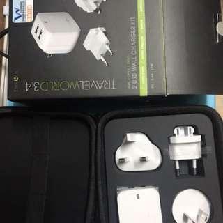 旅遊充電器 ENERGEA TRAVEL WORLD 3.4