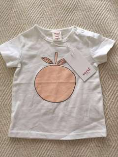 Country Road size 00 size 3 - 6 months BNWT Peach 🍑 Tee