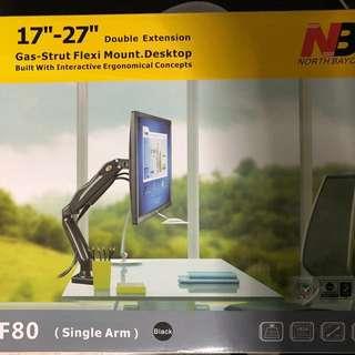 Gas strut flexi mount desktop (monitor mount)