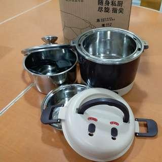 全鋼款電蒸,煮多用途飯盒,飯煲