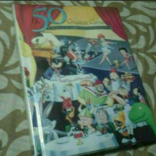 Art And Design Book 50 Greatest Cartoons  Hardcover     Pickup HOUGANG Buangkok Mrt