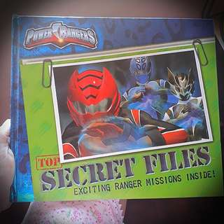 Power Rangers Top Secret Files (hardbound)