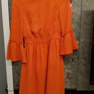 H&M orange dress