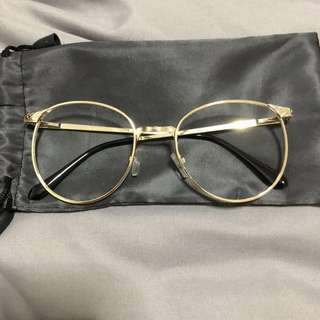 Spectacle gold frame
