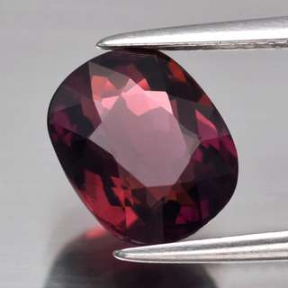 2.22ct Cushion Natural Pinkish Purple Tourmaline