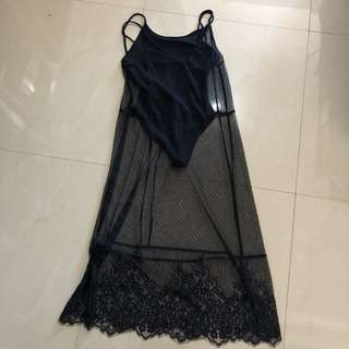 H&M Cochella Bodysuit Dress