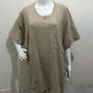 HANES CLASSICS beige breast pocket plus size womens ladies tshirt xxl