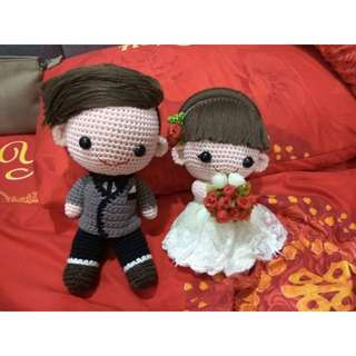Wedding couple decor (handmade)