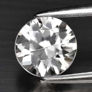 1.27ct Round Brilliant Natural White Zircon