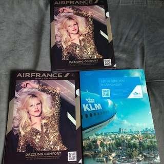 3pcs Air France/KLM files