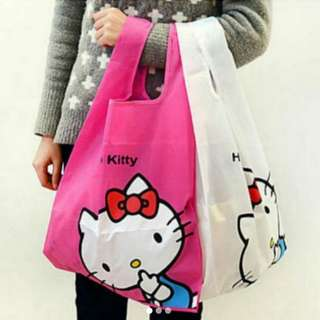 Hello Kitty recycle bag in white only!!