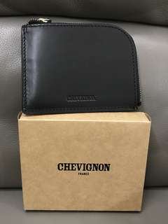 Chevignon Black Leather Wallet 黑色真皮銀包