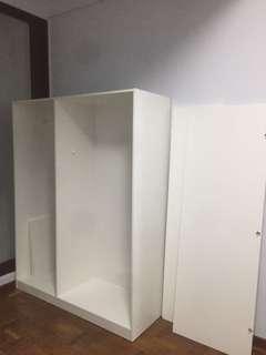 Ikea Dombas 3-Door White Wardrobe