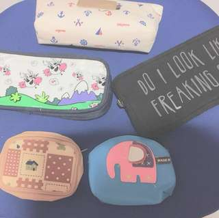 pencil case coin purse  CLEARANCE SALE