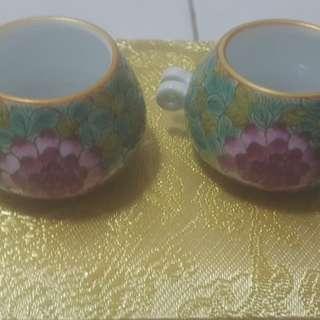 Green flower jumbul cup