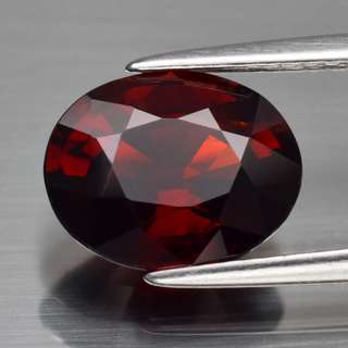 3.12ct Oval Natural Orangish Red Spessartite Garnet