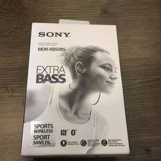 Sony XB50BS Extra Bass Sports Bluetooth In-Ear Headphones (Black)