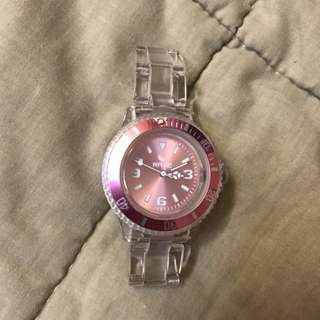Rave clear plastic watch