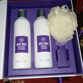 Original Gift set body shop white musk