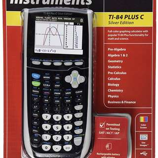 Brand new unopened TI-84 Plus C Silver Edition Graphing Calculator
