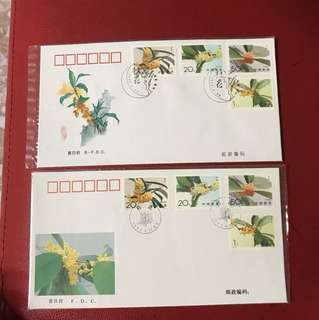 China stamp 1995-6 A/B FDC