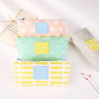 Pencil Case / Tempat Pensil It's My Favorite One soft colour [TP10]