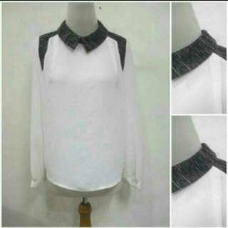 Korean White Collar Top
