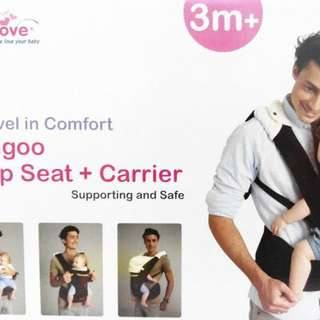 Baby Carrier ( Kangoo Hipseat Carrier with hood)