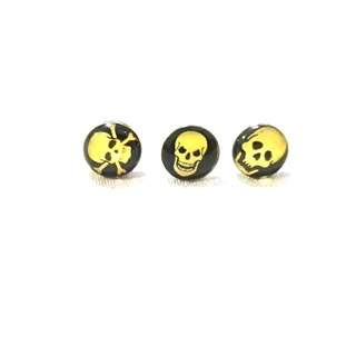 [3FOR$10] Various White Skull Ear Studs