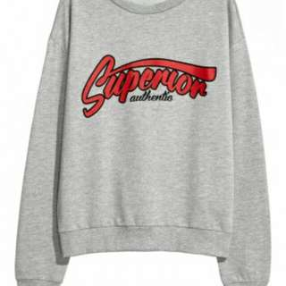 Sweater Supermon  Bahan babyterry fit to L