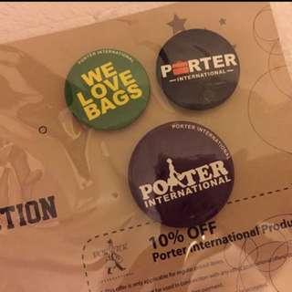 Porter 特別版 扣針一套