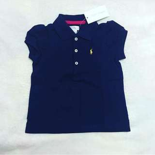 Ralph Lauren Baby Girl Navy Blue Polo