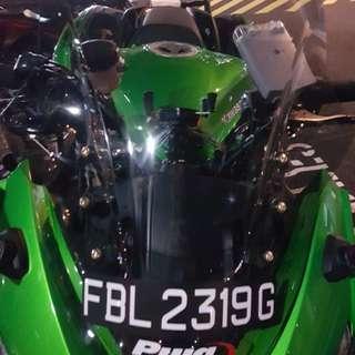 Z1000sx Puig Light Smoked Racing windshield