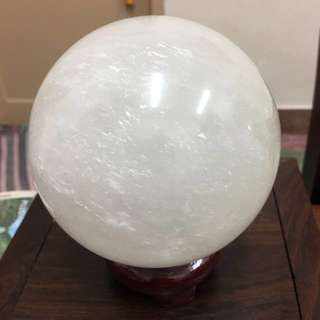 Clear White Calcite Crystal Sphere-big size( 白色方解石)