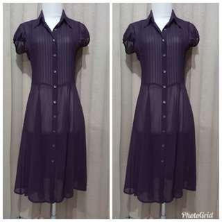 Plum chiffon dress