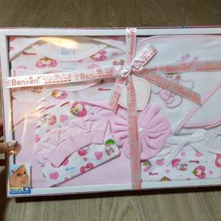 Brand new Benbeni pink baby clothing &towel layette set for girl