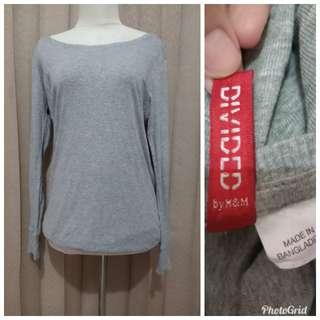 H&M gray long sleeve