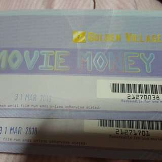 GV Movie Tickets (one pair) *Free normal postage*