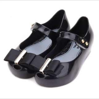 Mini Melissa Bow Jelly shoes