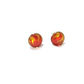 Hot Flames Ear Studs