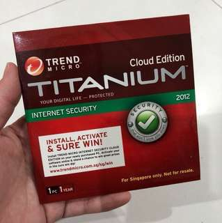 🔥Clearance Price!! 9pcs for $7 only! Trend Micro Cloud Edition TITANIUM Internet Security 2012 1 PC 1 YEAR