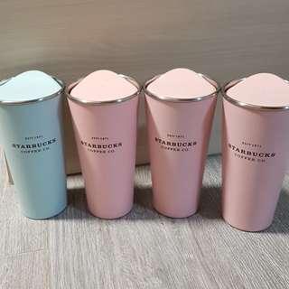 Starbucks Pastel Pink n Blue To Go Tumbler