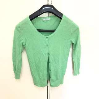 Izzue 綠色外套 green cardigan / coat